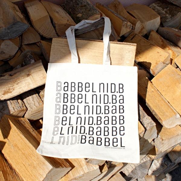 Bimbesbeidel - Deine Baumwolltasche BABBEL NID!