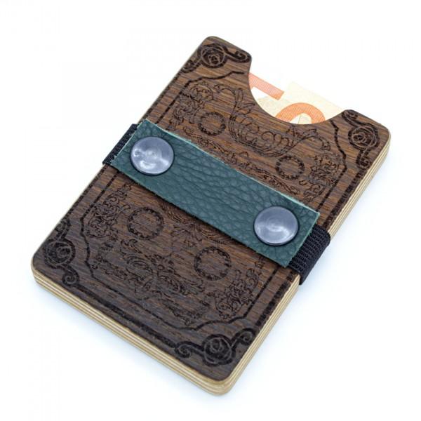 Bimbesbox in Mooreiche Spielkarte